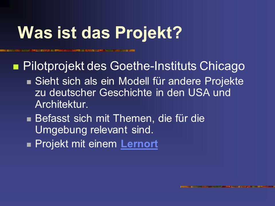 Was ist das Projekt Pilotprojekt des Goethe-Instituts Chicago