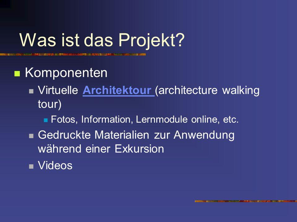 Was ist das Projekt Komponenten