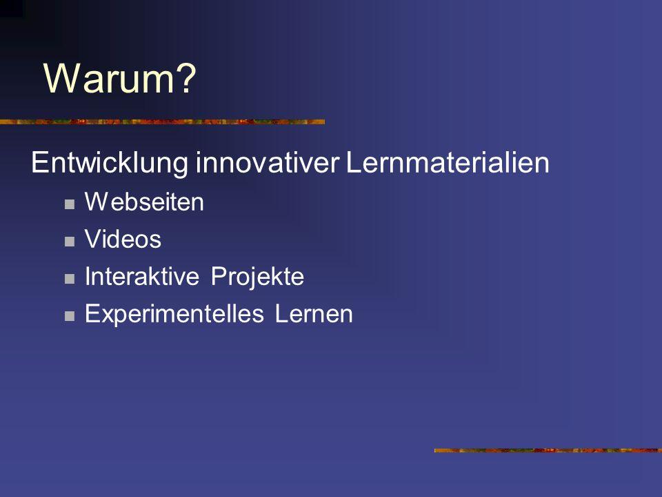 Warum Entwicklung innovativer Lernmaterialien Webseiten Videos