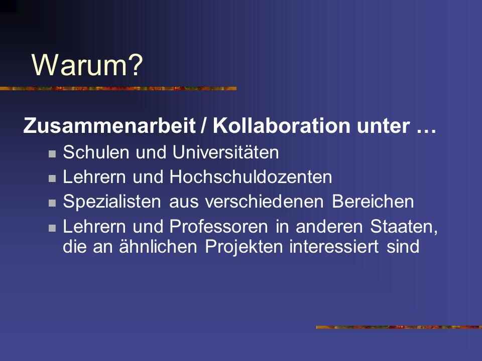 Warum Zusammenarbeit / Kollaboration unter …