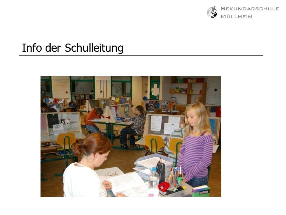 Info der Schulleitung