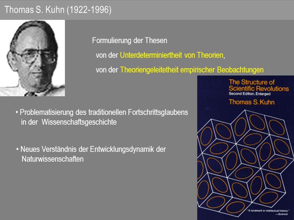 Thomas S. Kuhn (1922-1996) Formulierung der Thesen
