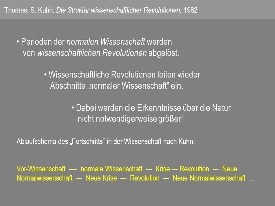 Thomas. S. Kuhn: Die Struktur wissenschaftlicher Revolutionen, 1962