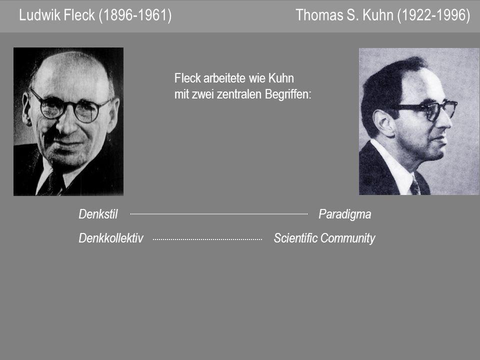 Ludwik Fleck (1896-1961) Thomas S. Kuhn (1922-1996)