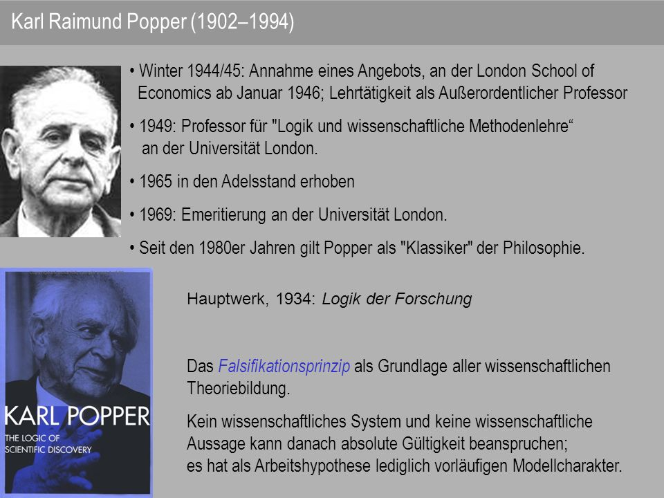 Karl Raimund Popper (1902–1994)