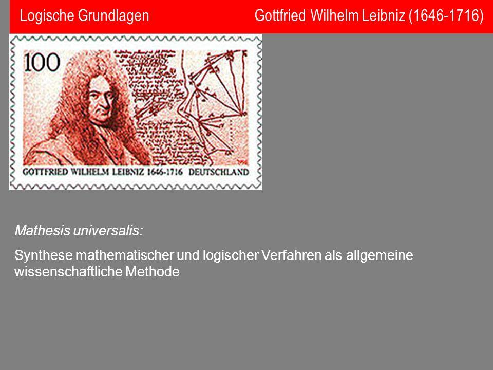 Logische Grundlagen Gottfried Wilhelm Leibniz (1646-1716)