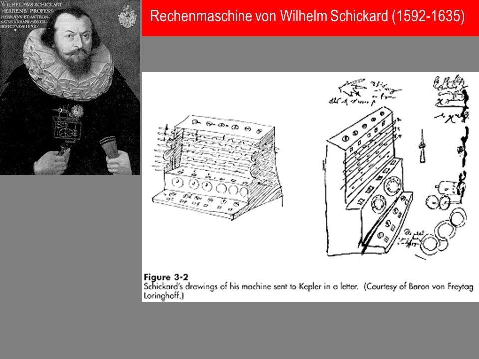 Rechenmaschine von Wilhelm Schickard (1592-1635)
