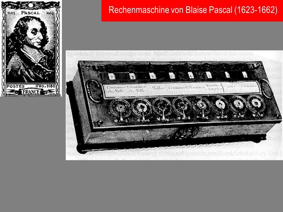 Rechenmaschine von Blaise Pascal (1623-1662)