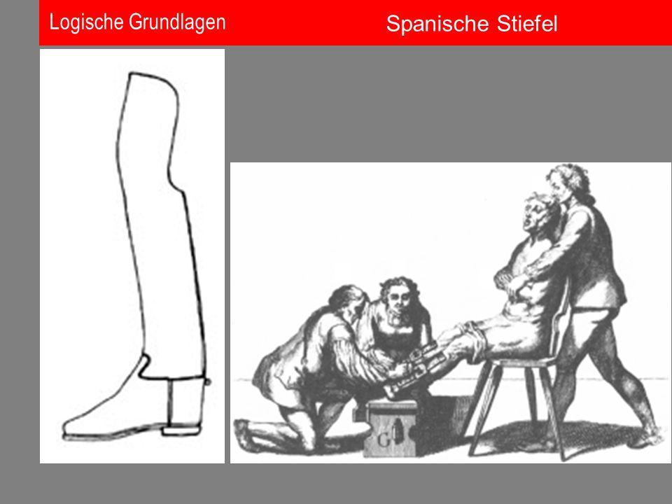 Logische Grundlagen Spanische Stiefel
