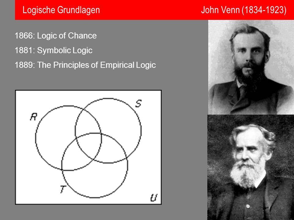 Logische Grundlagen John Venn (1834-1923)
