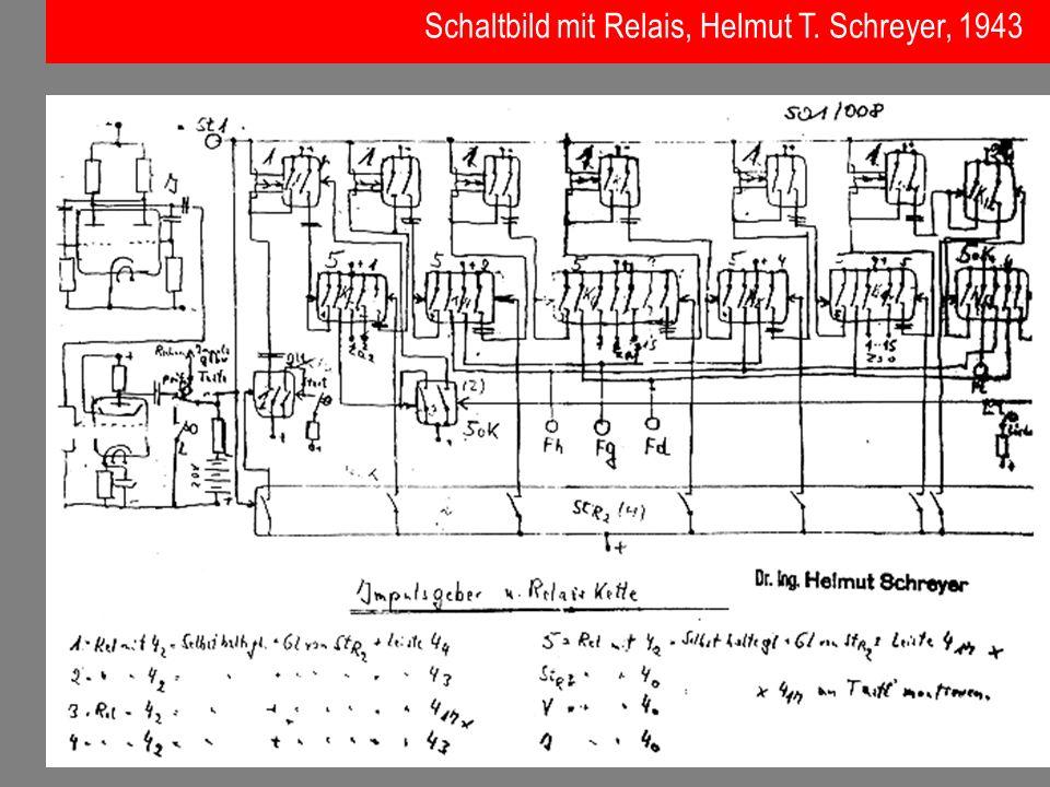 Schaltbild mit Relais, Helmut T. Schreyer, 1943