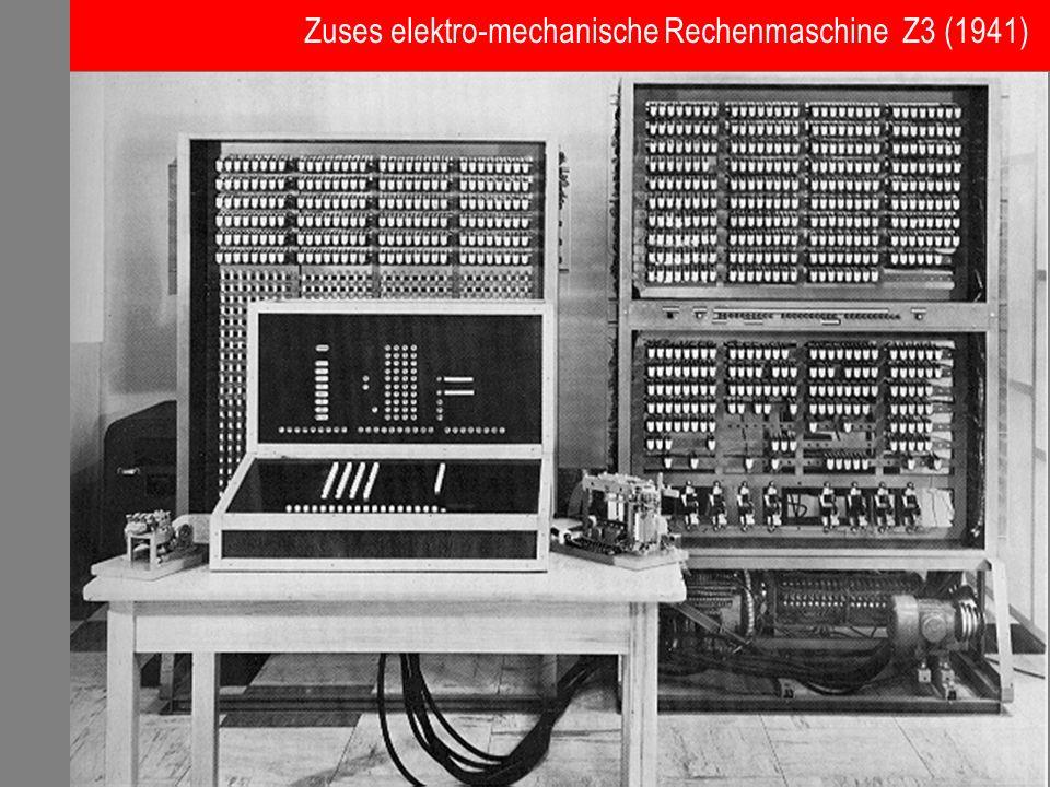 Zuses elektro-mechanische Rechenmaschine Z3 (1941)