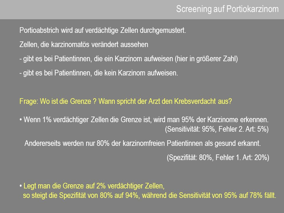 Screening auf Portiokarzinom