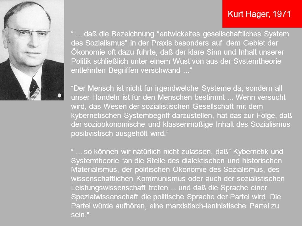 Kurt Hager, 1971