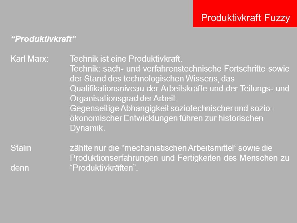 Produktivkraft Fuzzy Produktivkraft