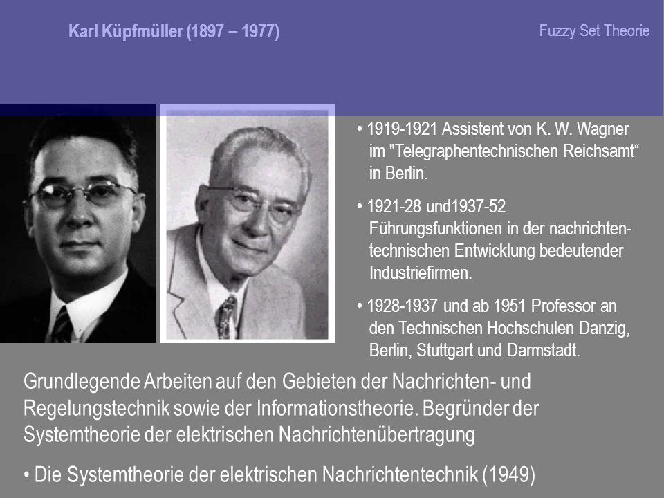 Die Systemtheorie der elektrischen Nachrichtentechnik (1949)