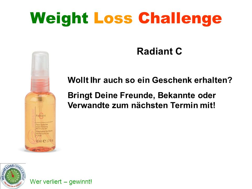Weight Loss Challenge Radiant C