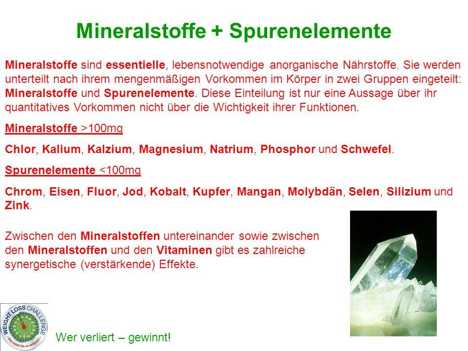 Mineralstoffe + Spurenelemente