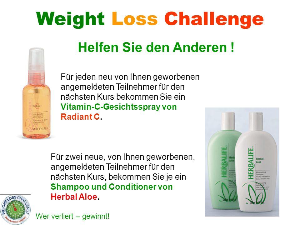 Weight Loss Challenge Helfen Sie den Anderen !