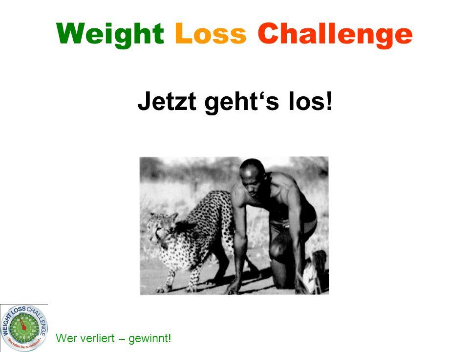 Weight Loss Challenge Jetzt geht's los!