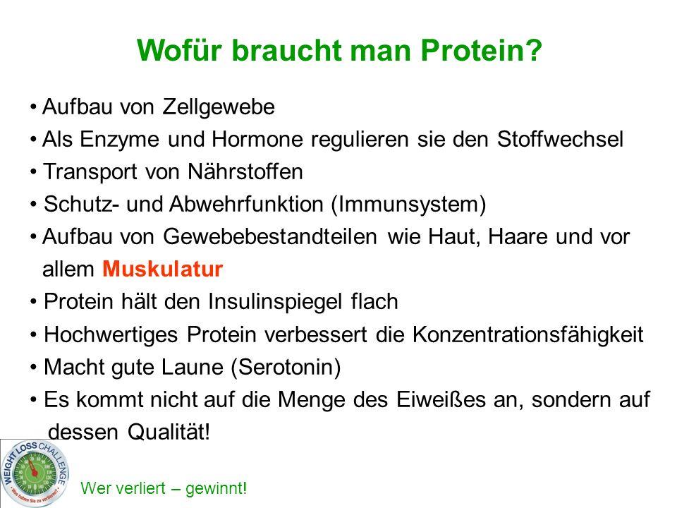 Wofür braucht man Protein