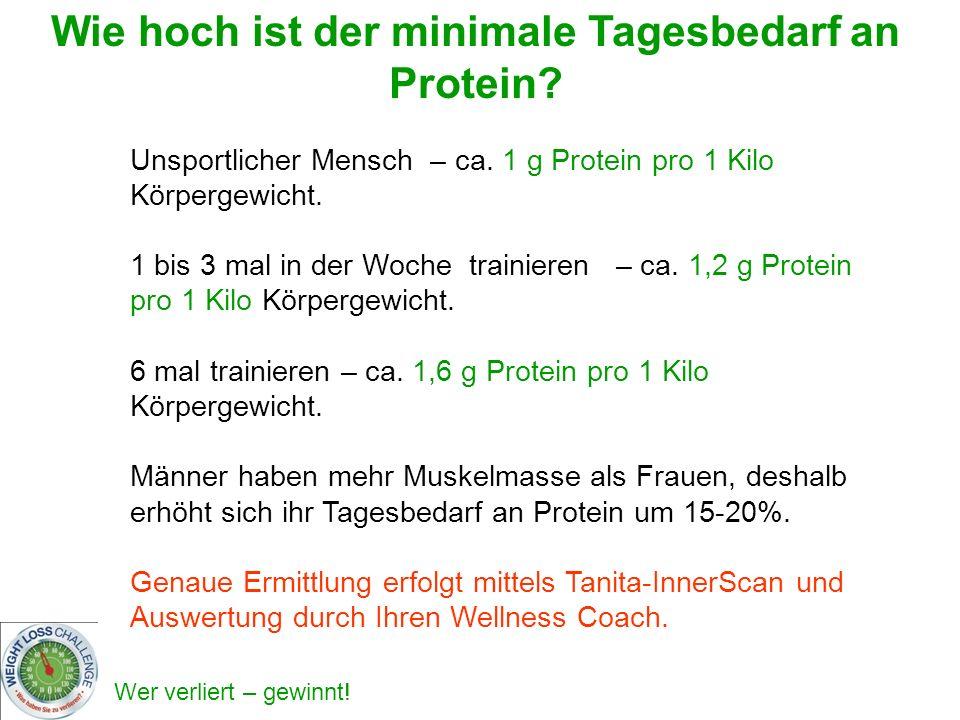 Wie hoch ist der minimale Tagesbedarf an Protein