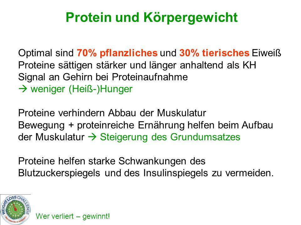 Protein und Körpergewicht