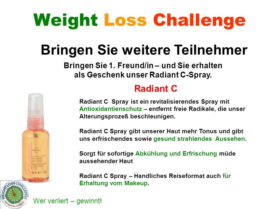 Weight Loss Challenge Bringen Sie weitere Teilnehmer Radiant C