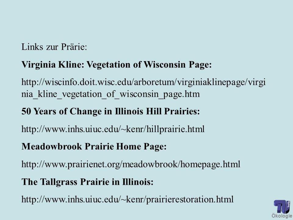 Links zur Prärie: Virginia Kline: Vegetation of Wisconsin Page: