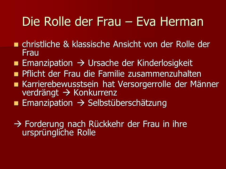 Die Rolle der Frau – Eva Herman