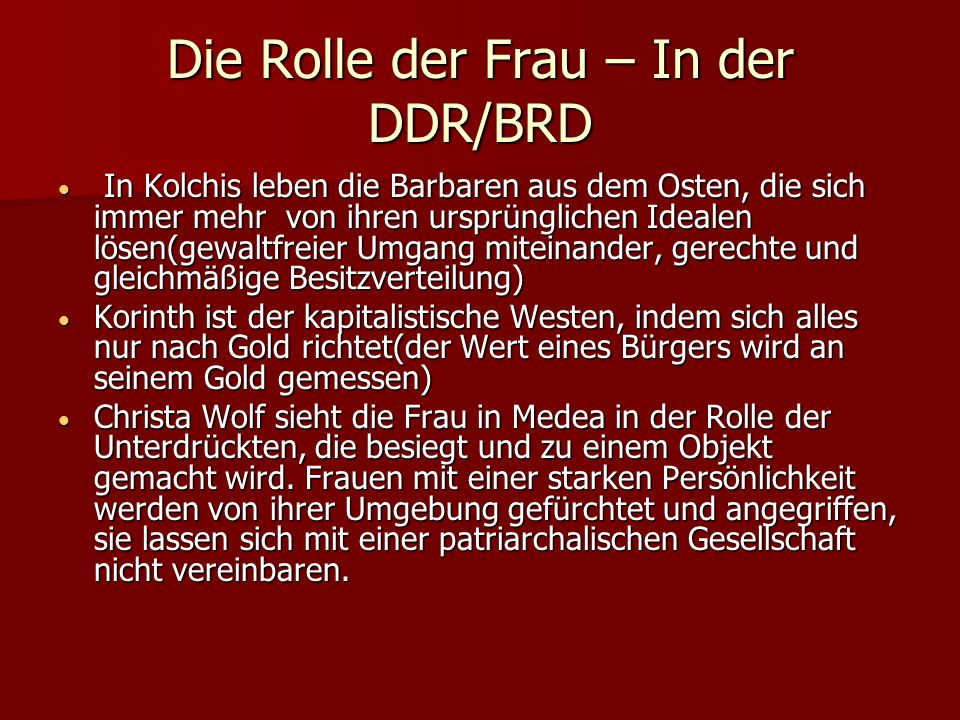 Die Rolle der Frau – In der DDR/BRD