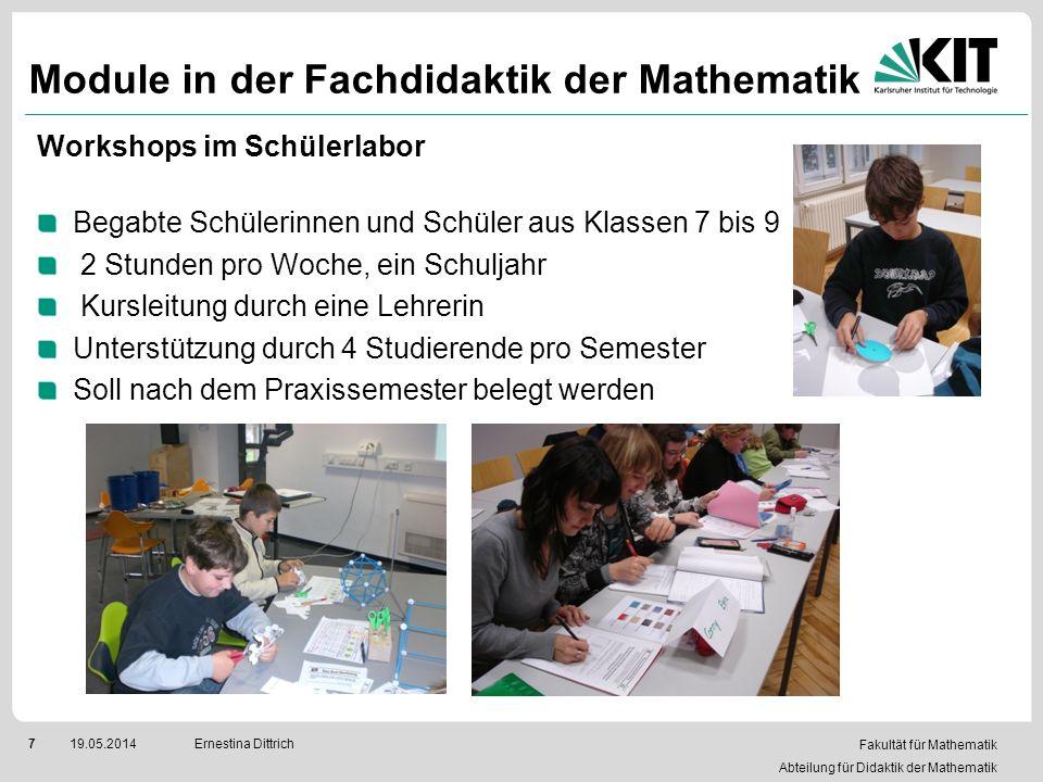 Module in der Fachdidaktik der Mathematik