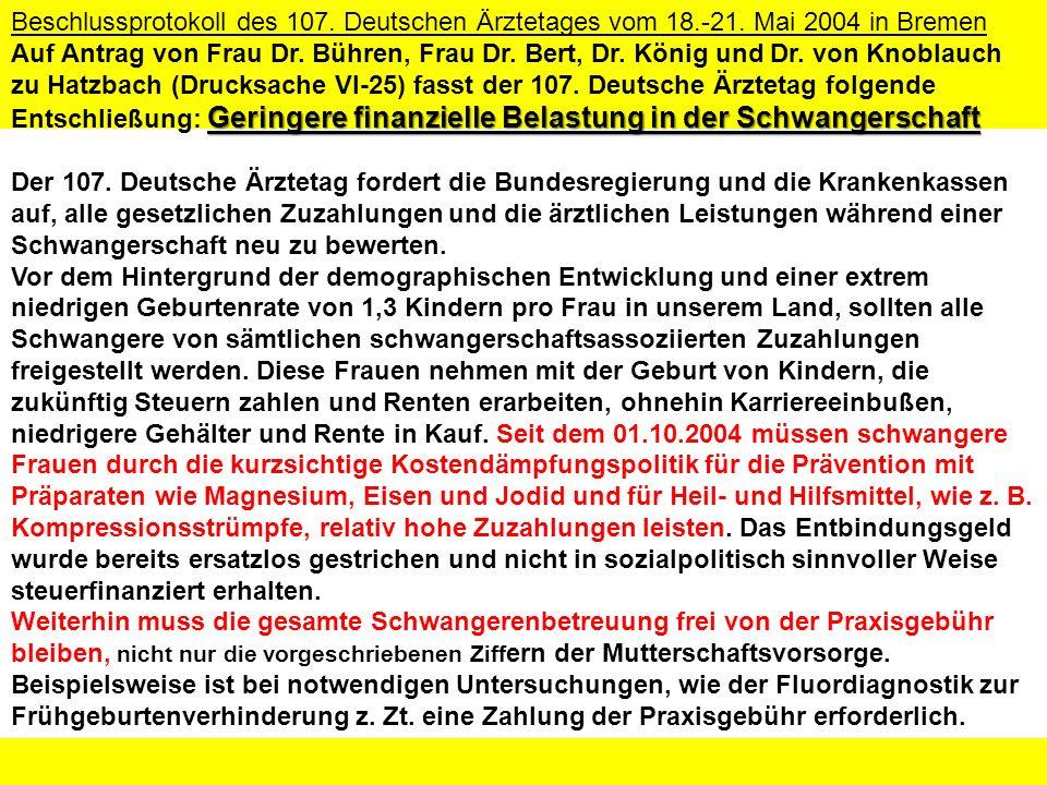 Beschlussprotokoll des 107. Deutschen Ärztetages vom 18. -21
