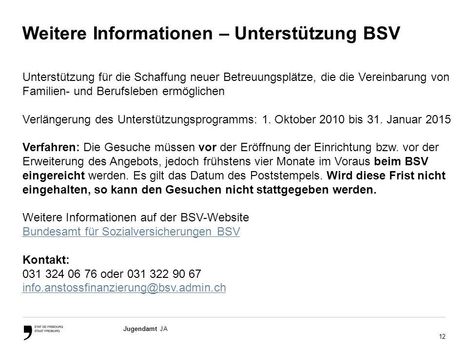 Weitere Informationen – Unterstützung BSV