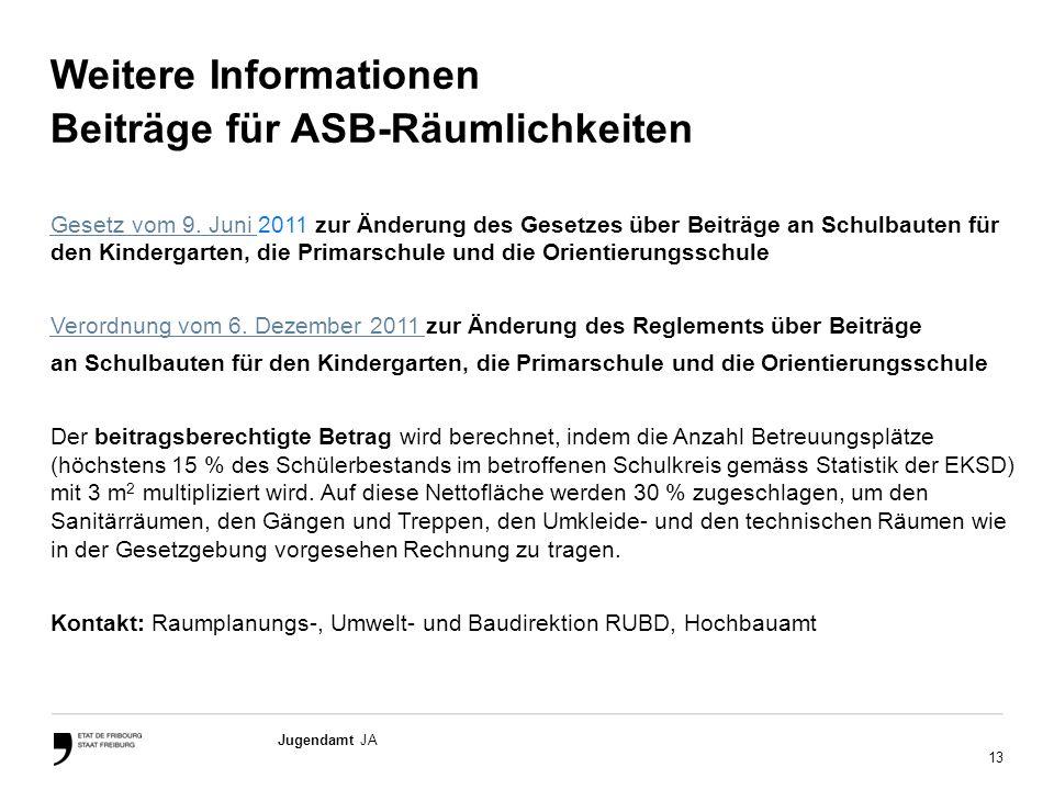 Weitere Informationen Beiträge für ASB-Räumlichkeiten