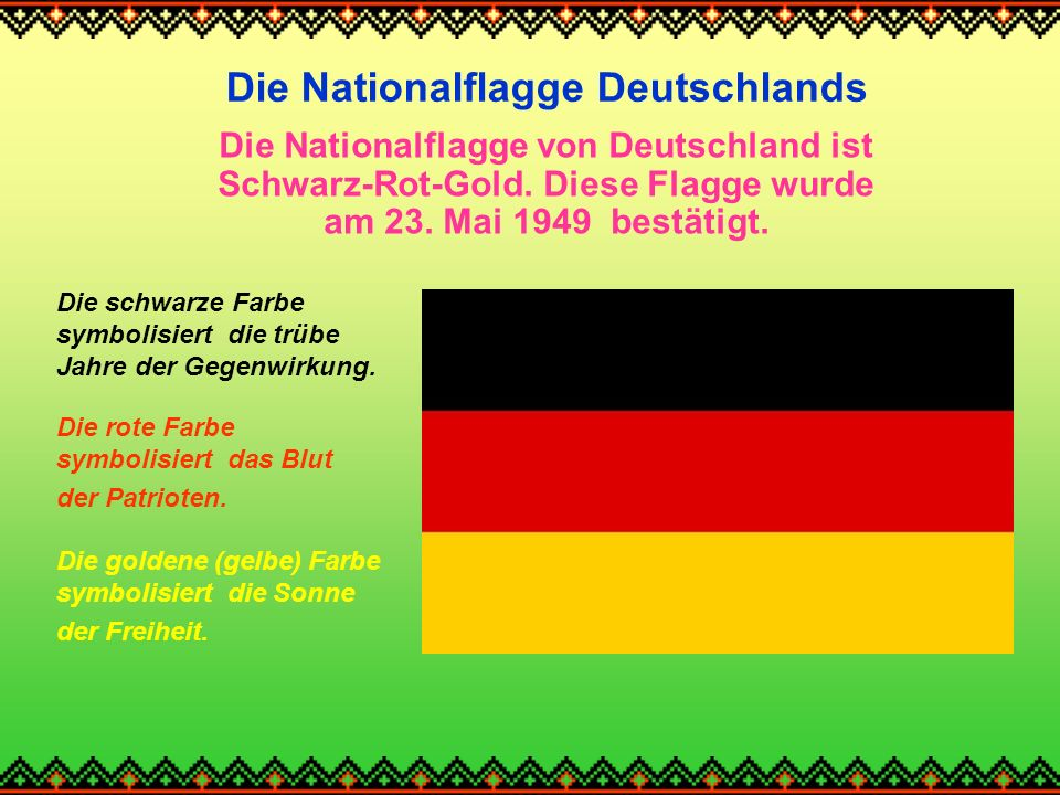 Die Nationalflagge Deutschlands