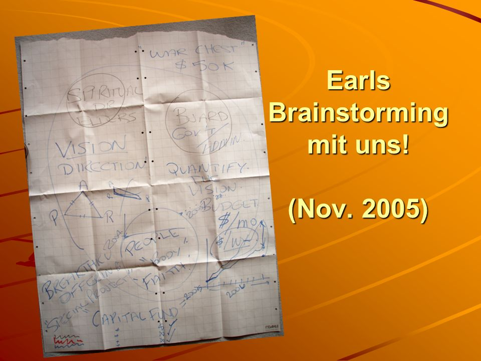 Earls Brainstorming mit uns! (Nov. 2005)