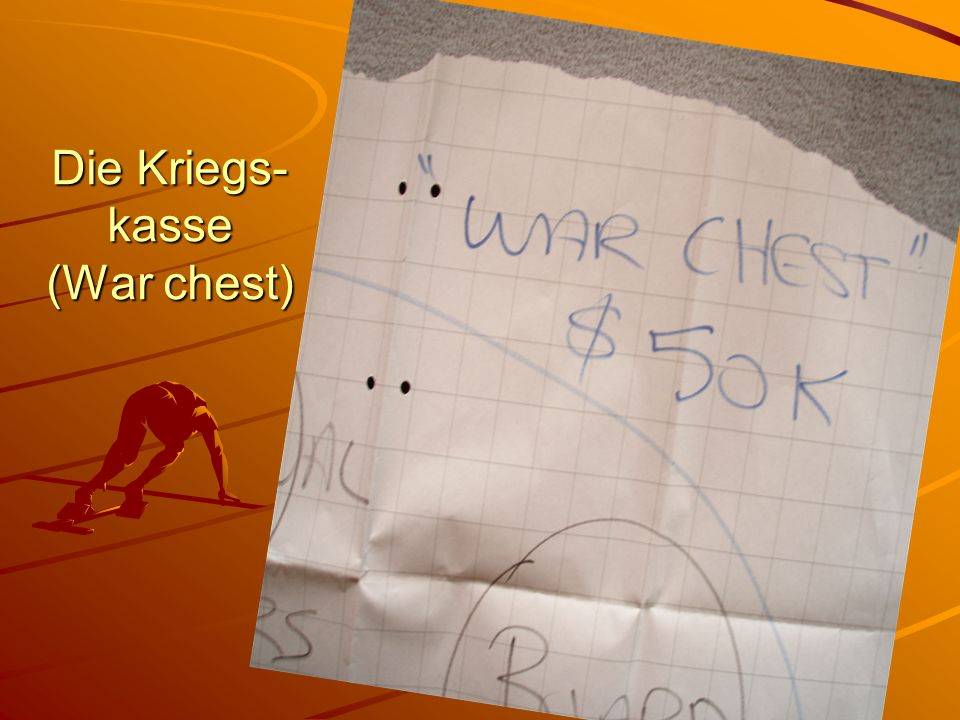 Die Kriegs-kasse (War chest)
