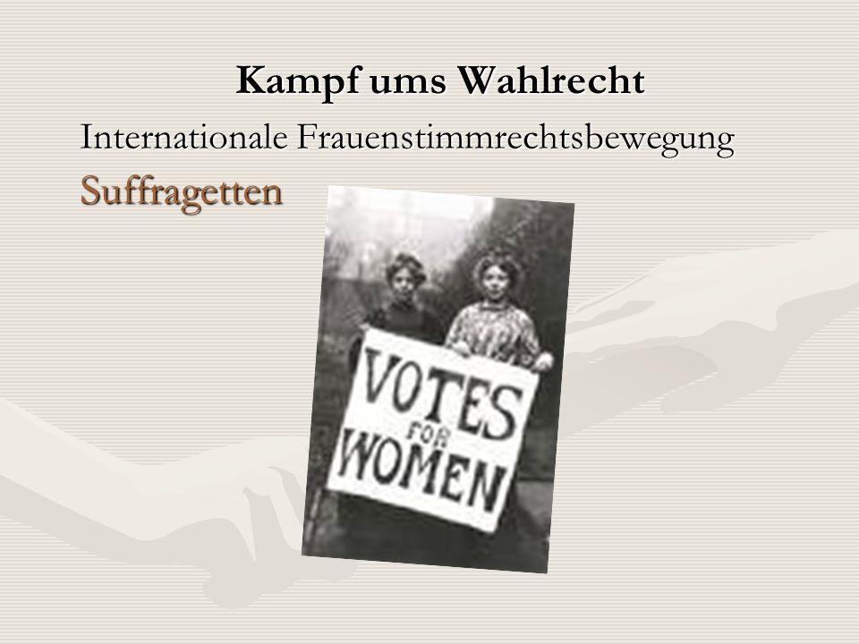 Kampf ums Wahlrecht Suffragetten