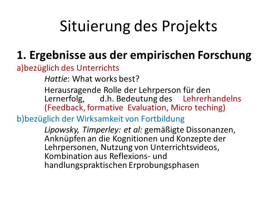 Situierung des Projekts
