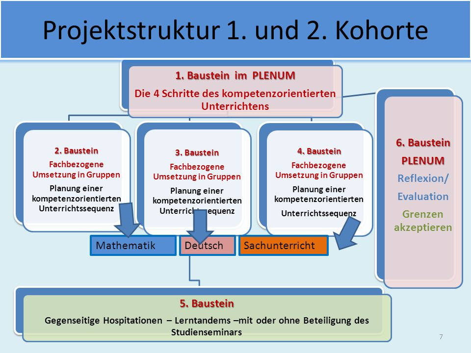 Projektstruktur 1. und 2. Kohorte