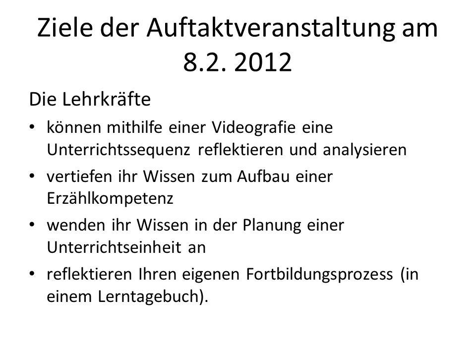 Ziele der Auftaktveranstaltung am 8.2. 2012