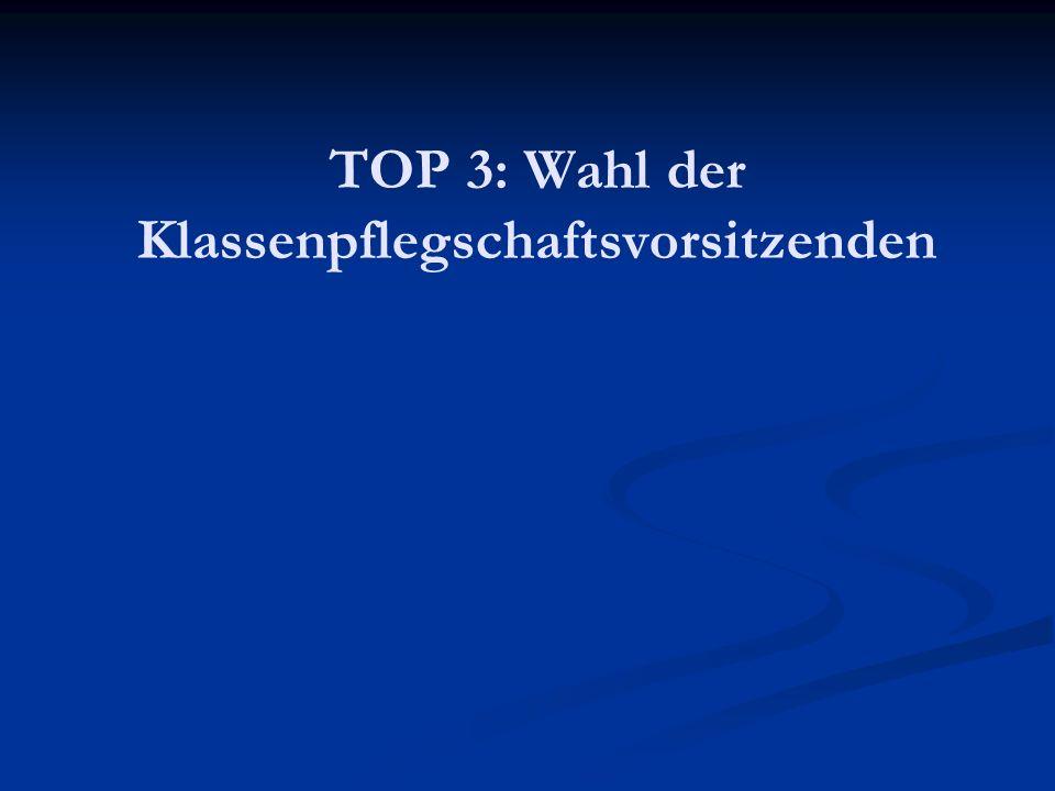 TOP 3: Wahl der Klassenpflegschaftsvorsitzenden