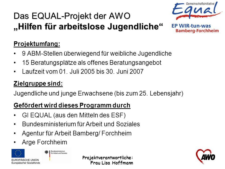 """Das EQUAL-Projekt der AWO """"Hilfen für arbeitslose Jugendliche"""