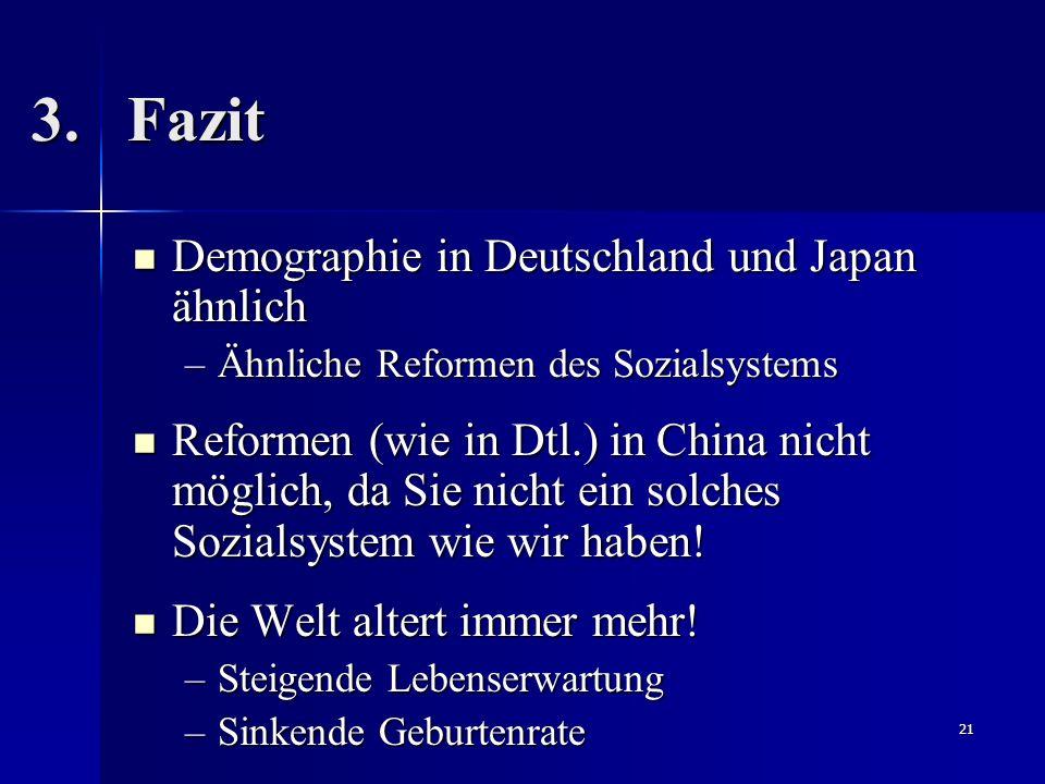 Fazit Demographie in Deutschland und Japan ähnlich