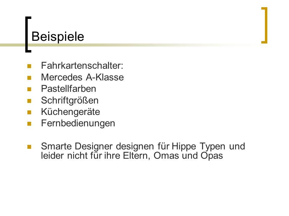 Beispiele Fahrkartenschalter: Mercedes A-Klasse Pastellfarben