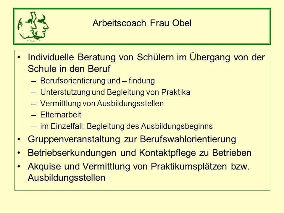 Arbeitscoach Frau Obel