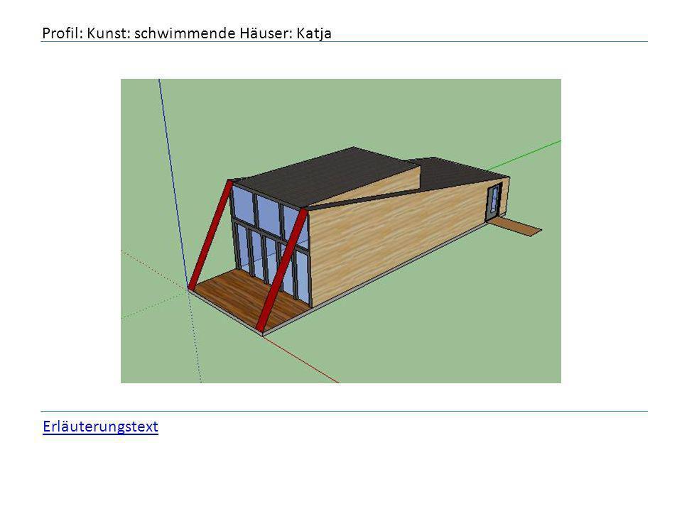 Profil: Kunst: schwimmende Häuser: Katja