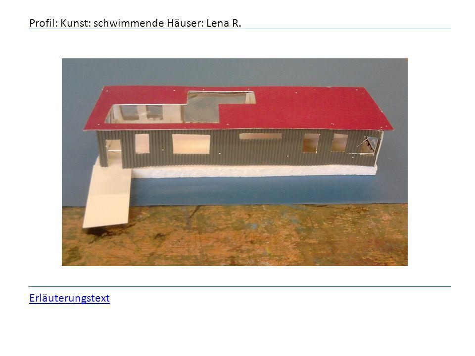 Profil: Kunst: schwimmende Häuser: Lena R.