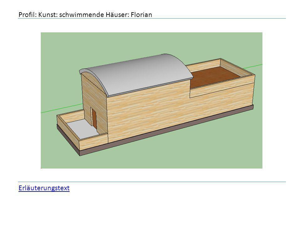 Profil: Kunst: schwimmende Häuser: Florian